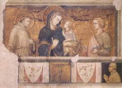 Pietro Lorenzetti: Madonna with St. Francis and St. John the Evangelist (1320-25)