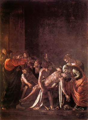 Caravaggio - Jesus Raises Lazarus from the Dead (John 11)