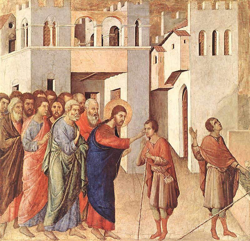 Duccio - Painting of Jesus Giving Sight to the Man Born Blind (John 9)