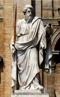 Statue of St. Paul in Vatican City