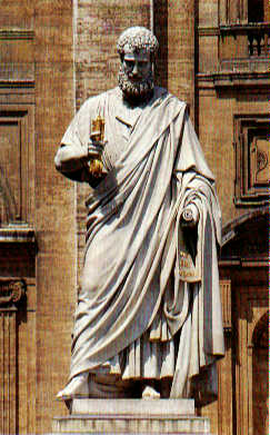 Statue of St. Peter in Vatican City